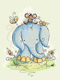 best elephants images. Clipart elephant friend