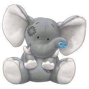 Clipart elephant friend. Blue nose tatty teddy