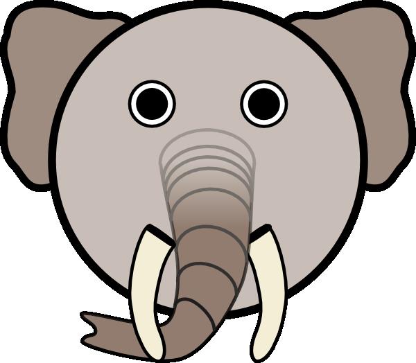 Circle head clip art. Horn clipart elephant
