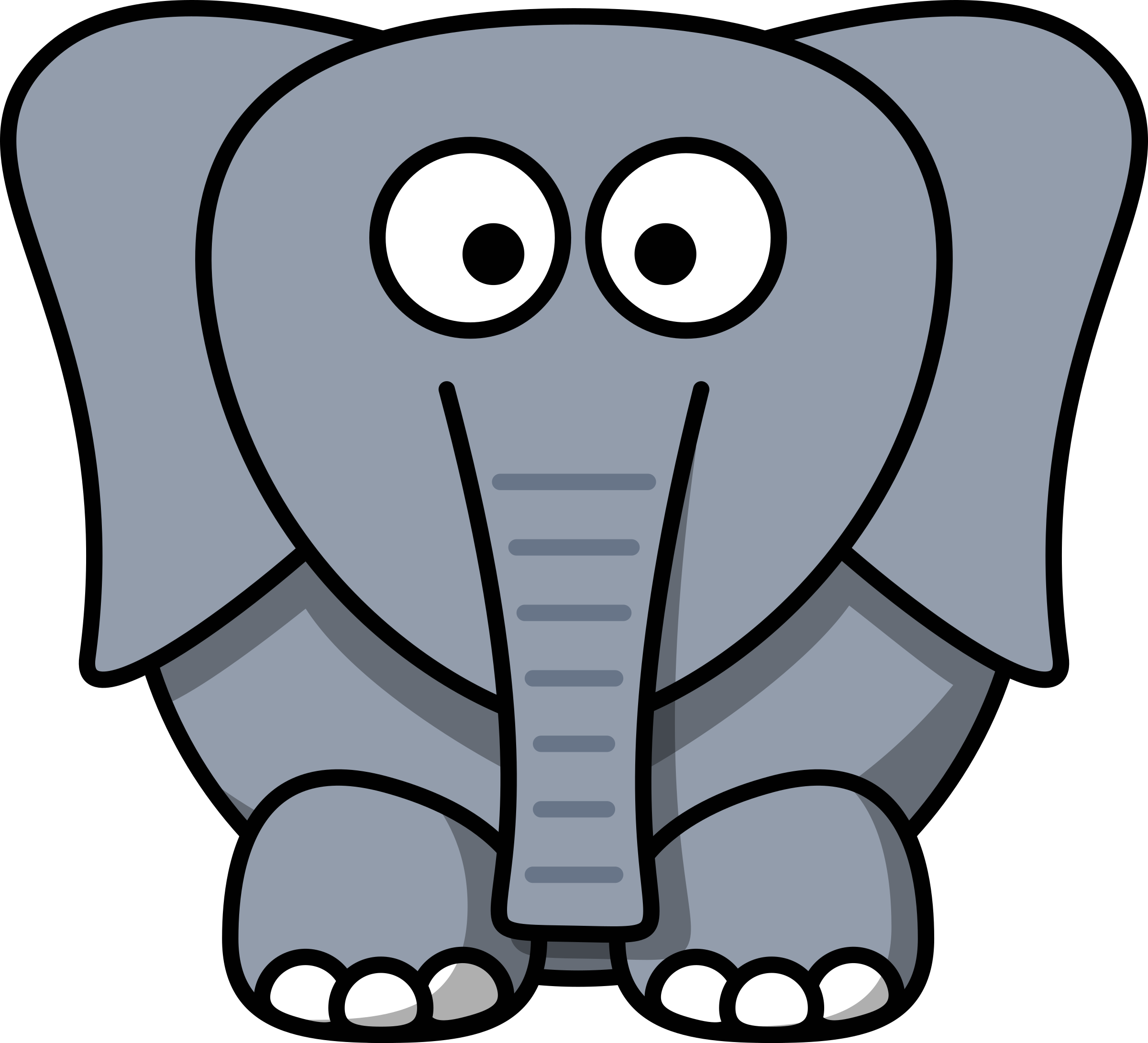Clipart elephant front. Cartoon big image png