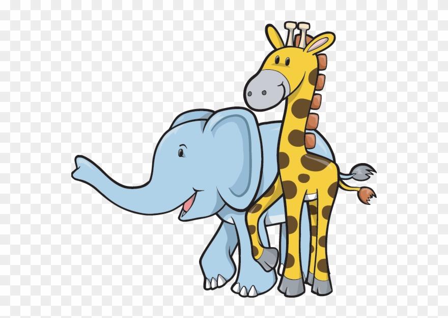 Clipart elephant giraffe. And cartoon