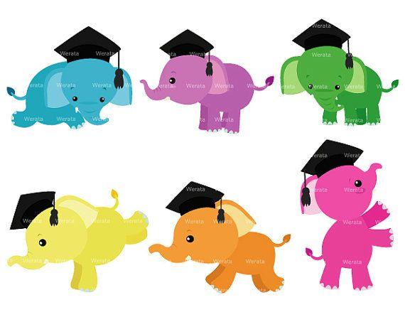 Clip art baby by. Clipart elephant graduation