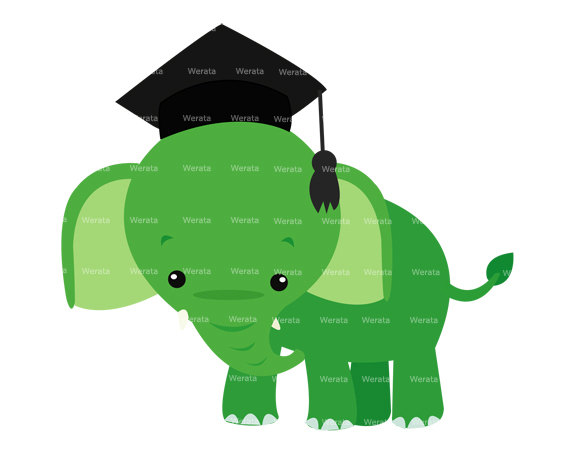 Clipart elephant graduation. Clip art panda free