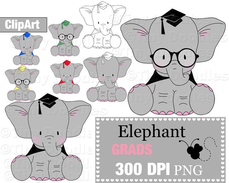 Clipart elephant graduation. Grad clip art commercial