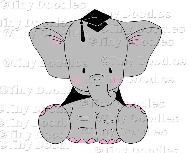Grad clip art commercial. Clipart elephant graduation