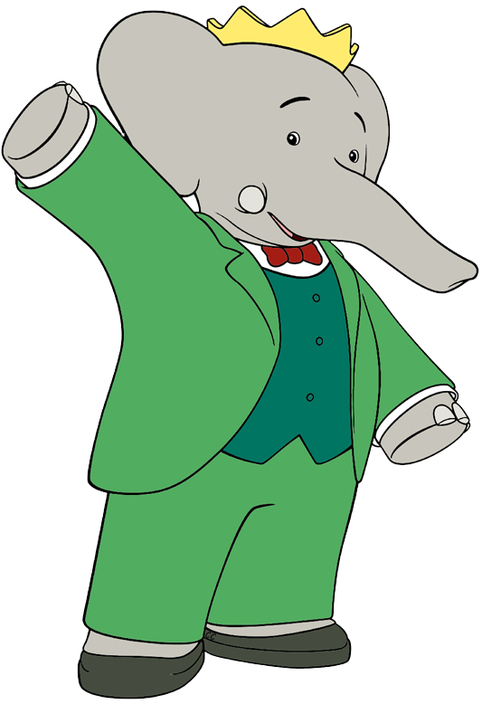 Disney clipart elephant. Babar and the adventures