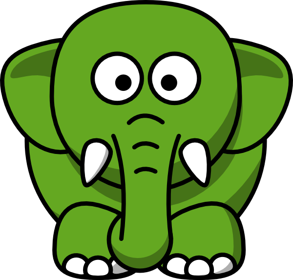 Clipart mouth elephant. Green clip art at