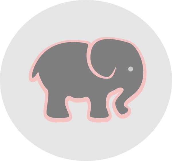 Grey with pink in. Heart clipart elephant