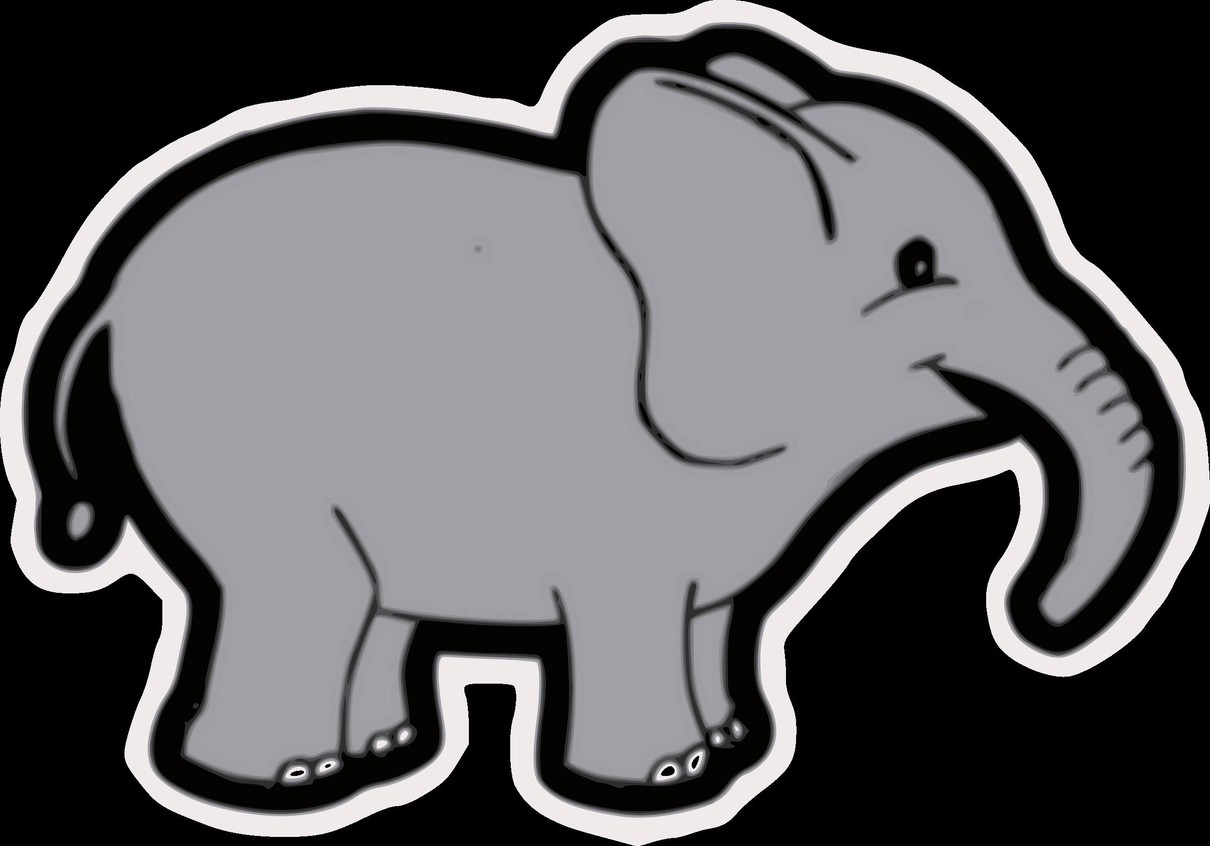 Cute big image png. Clipart elephant grey