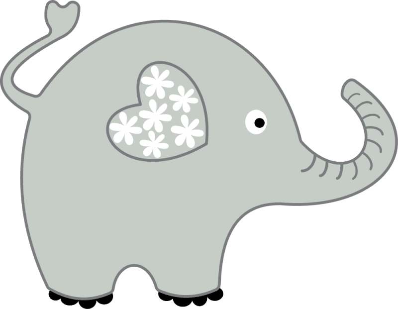 Heart clipart elephant. Cool of image gray
