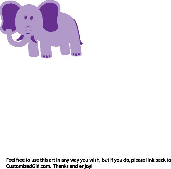 Lavender clipart elephant. Alone clip art at