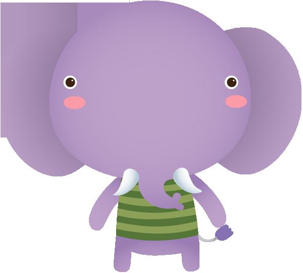 Clip art portfolio categories. Lavender clipart elephant