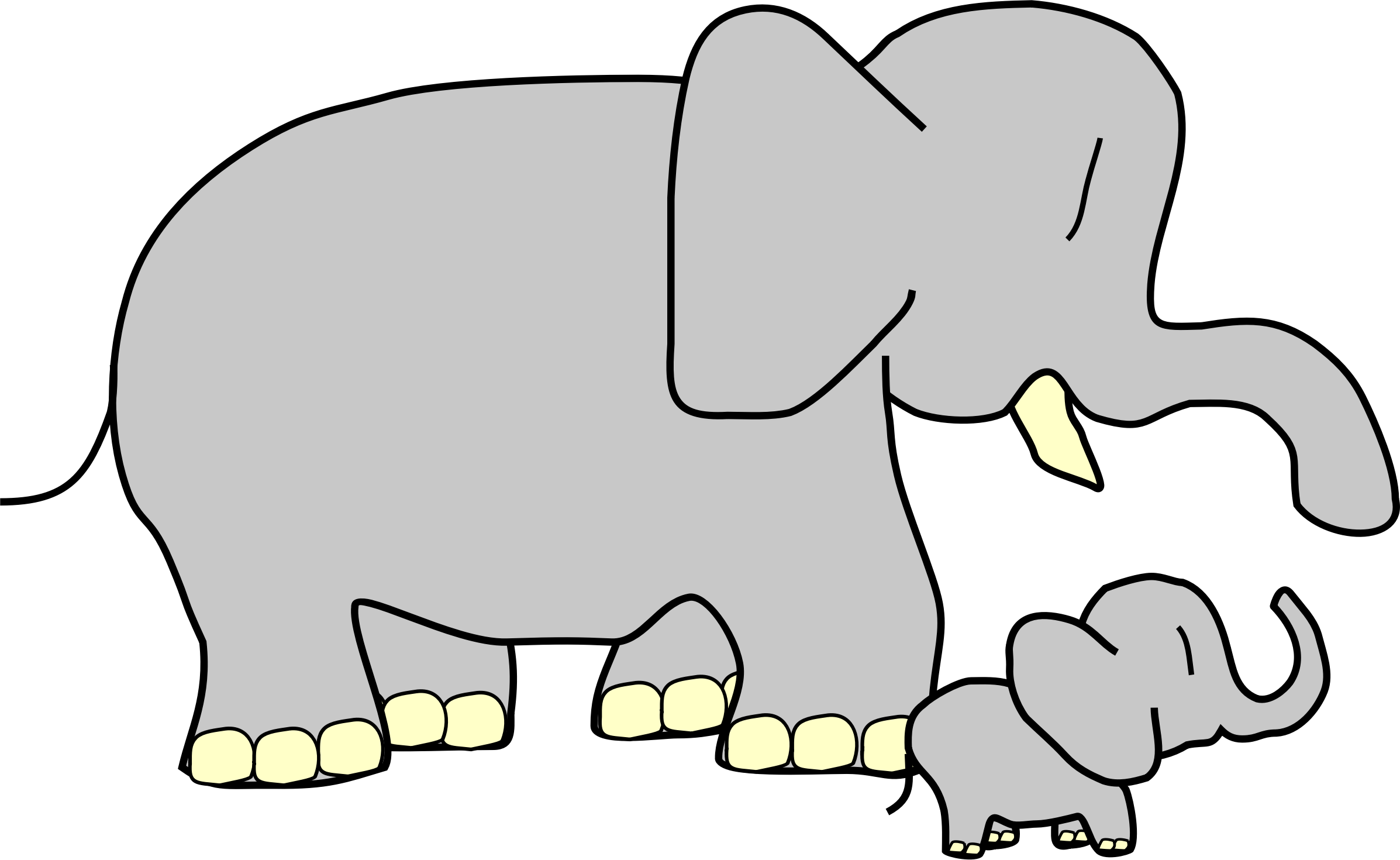Elephants clipart dog. Who is in your
