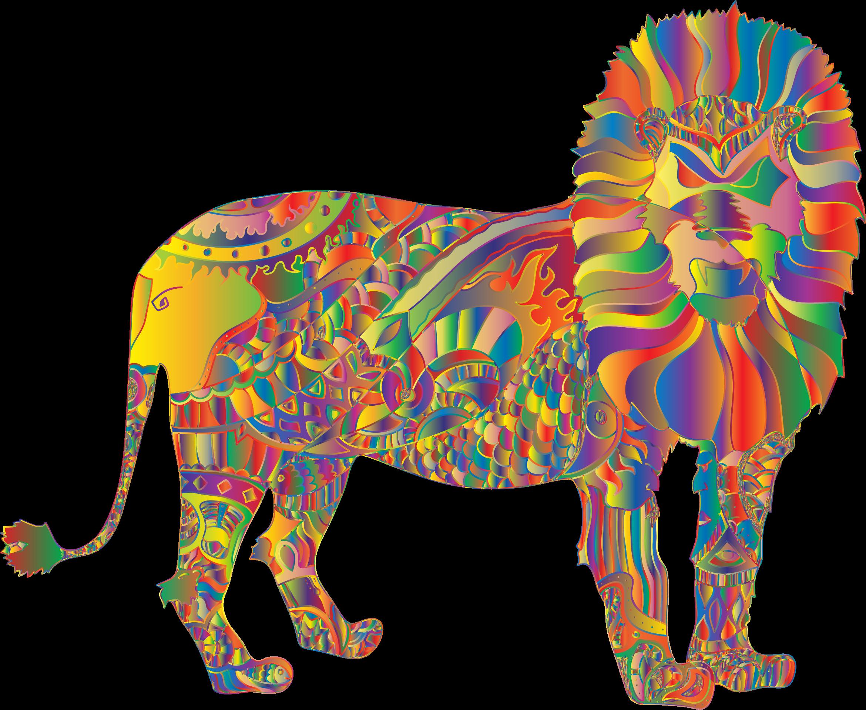 Prismatic redglove big image. Clipart elephant lion