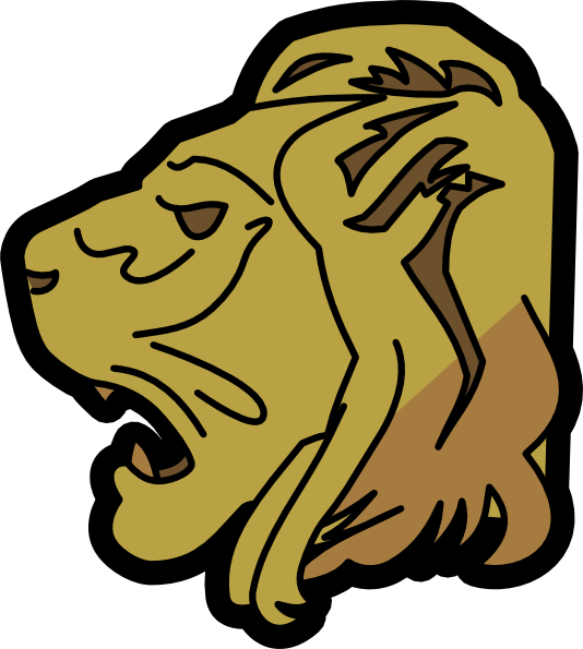 Free clipart lion. Head clip art at