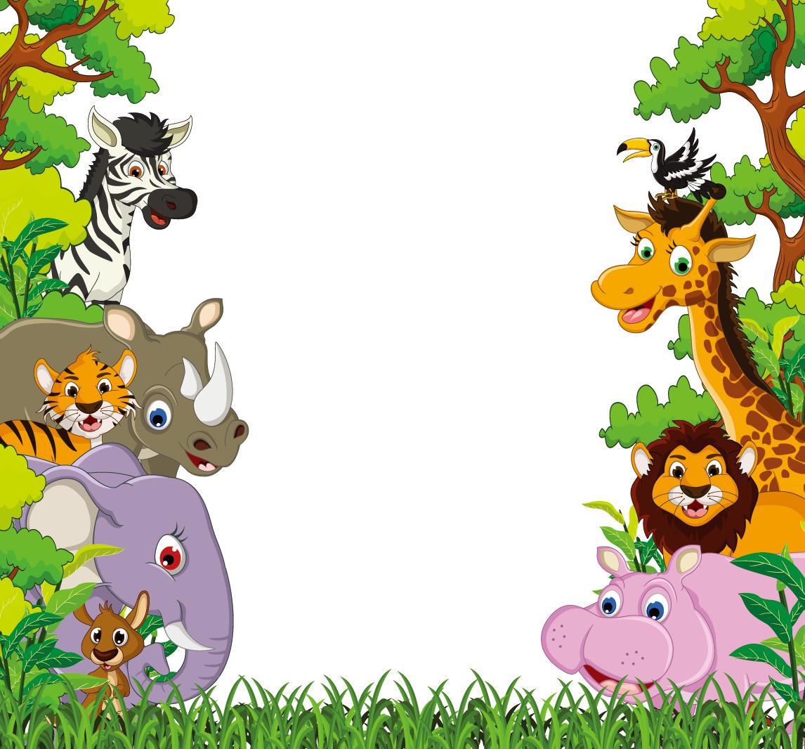 Animal clip art giraffe. Jungle clipart flora and fauna
