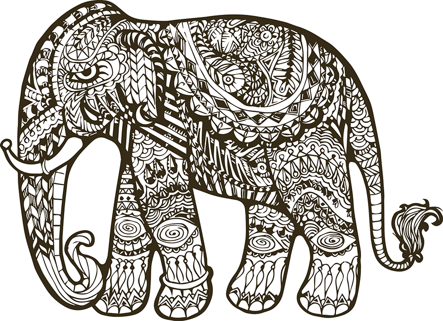 Indian drawing at getdrawings. Mandala clipart elephant
