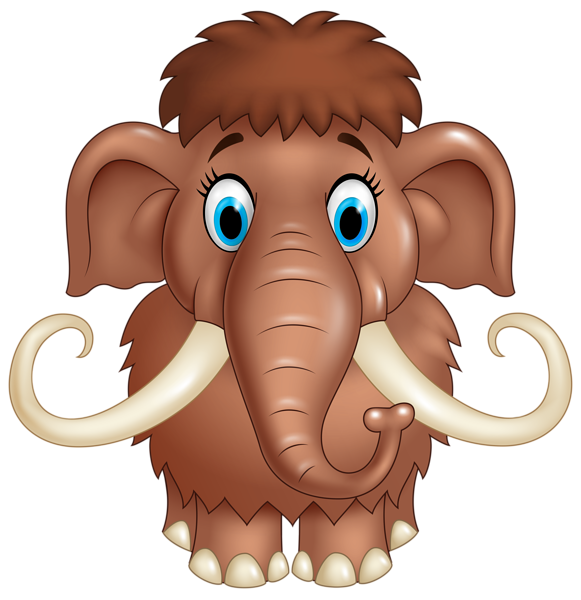 Cute mammoth png image. Planner clipart cartoon