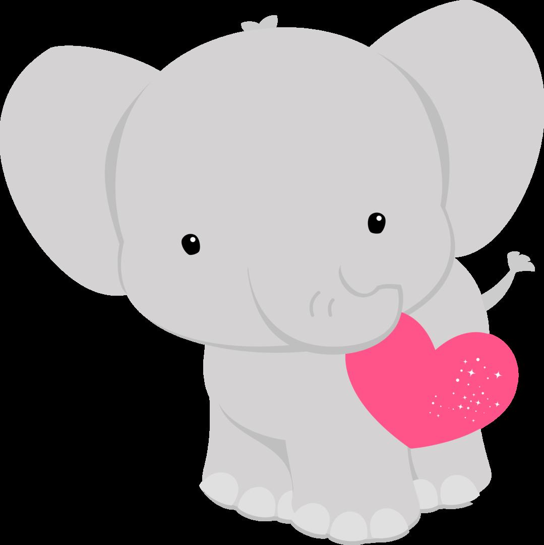 fauna enamorada dibujos. Hearts clipart elephant