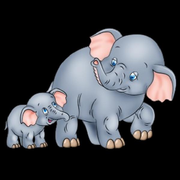 Clipart elephant mother. Cartoon clip art and