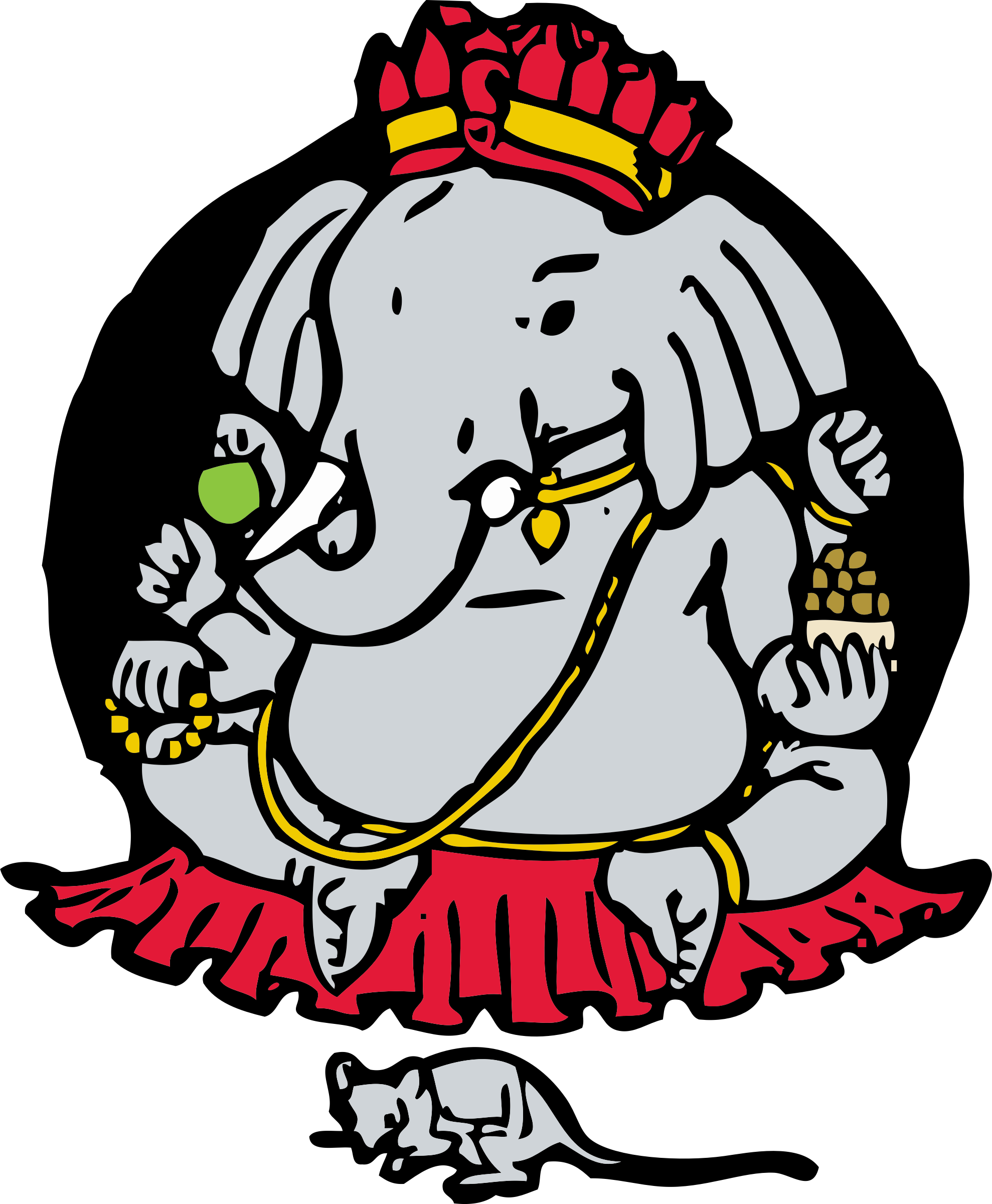And big image png. Clipart elephant mouse