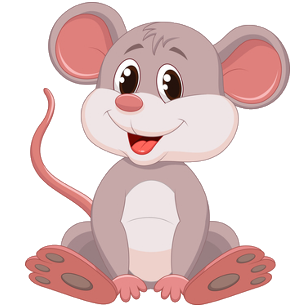 Clipart elephant mouse. Funny cute cartoon png