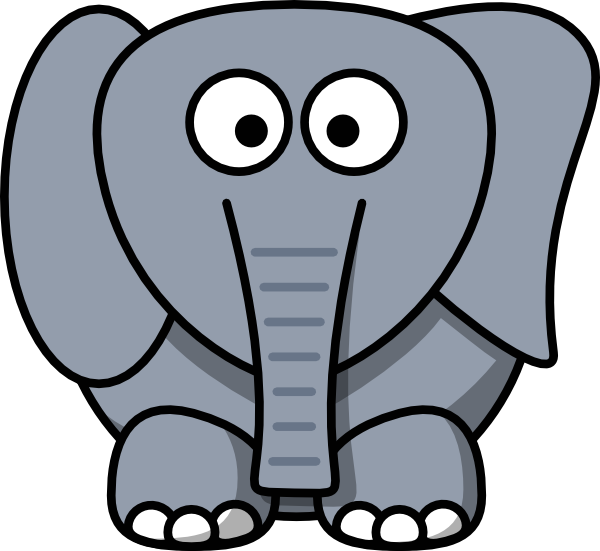 Weird clip art at. Clipart mouth elephant