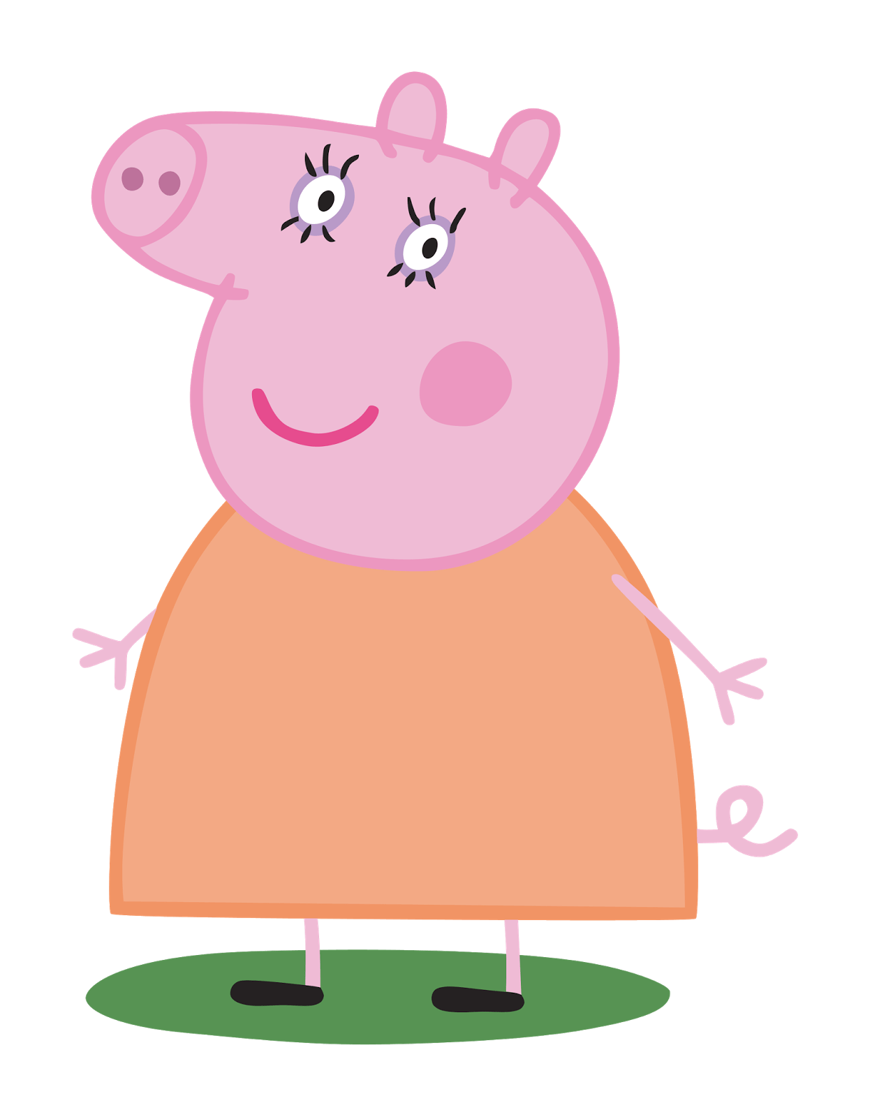 Mummy pig png stickpng. Clipart family transparent background