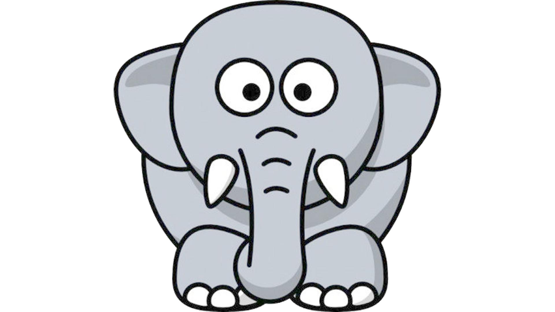 Elephants clipart dog. Cartoon elephant drawing clip