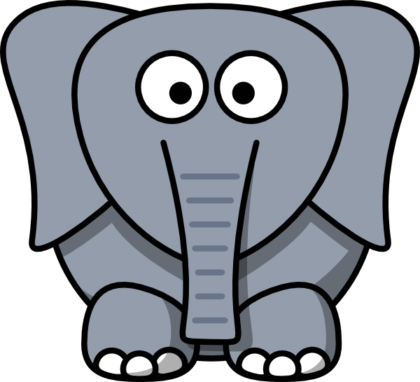 Face clipart baby elephant. Cartoon clip art at