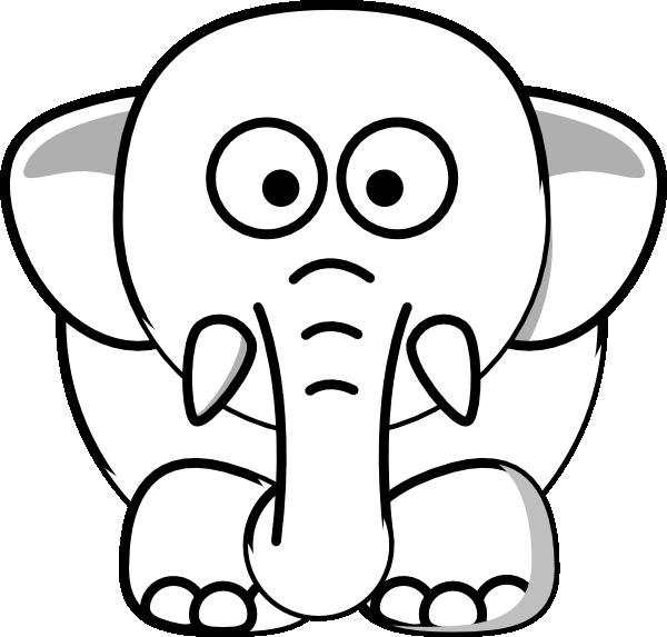 Clipart elephant outline. Clip art at clker