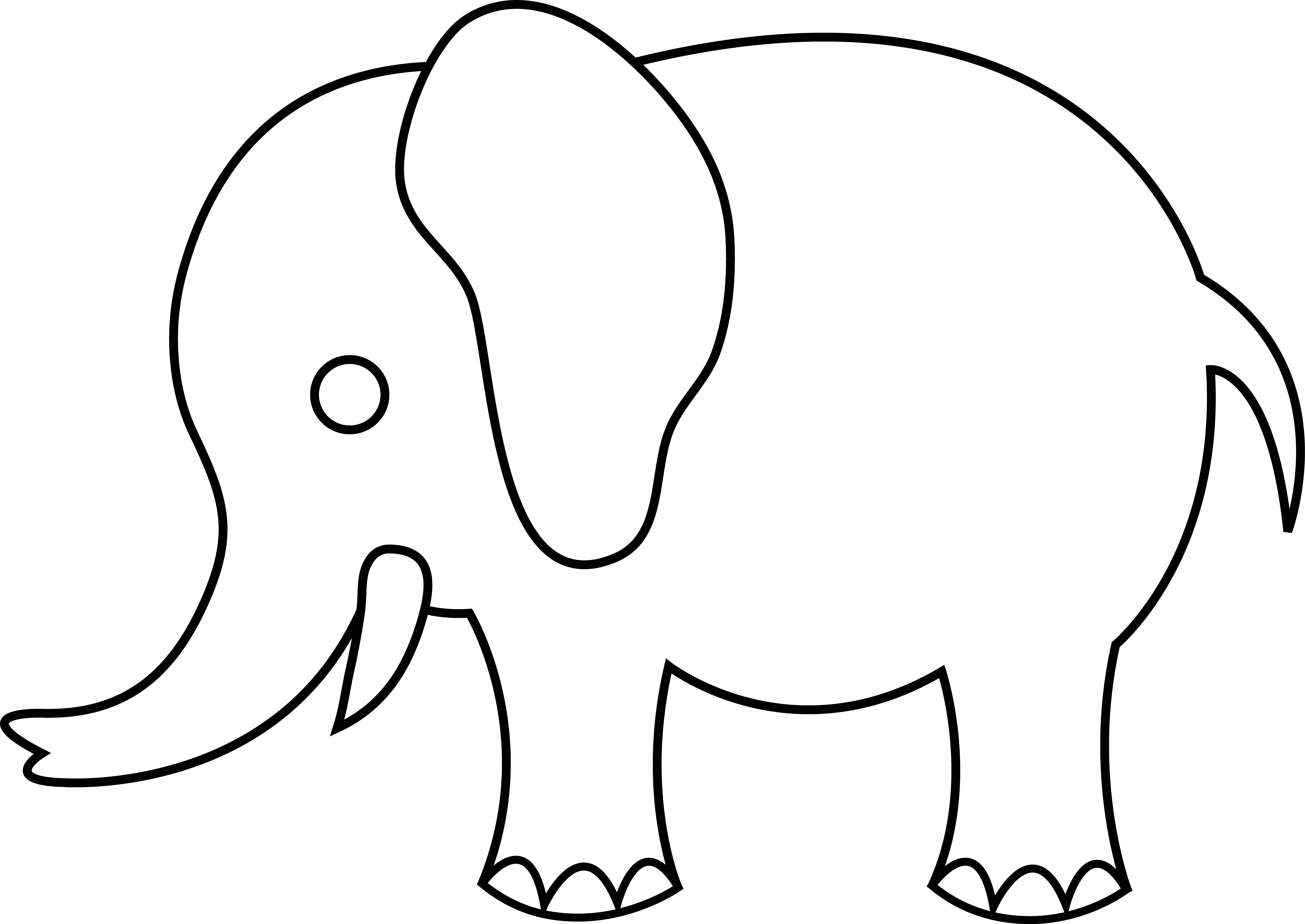 Free outline download clip. Tree clipart elephant