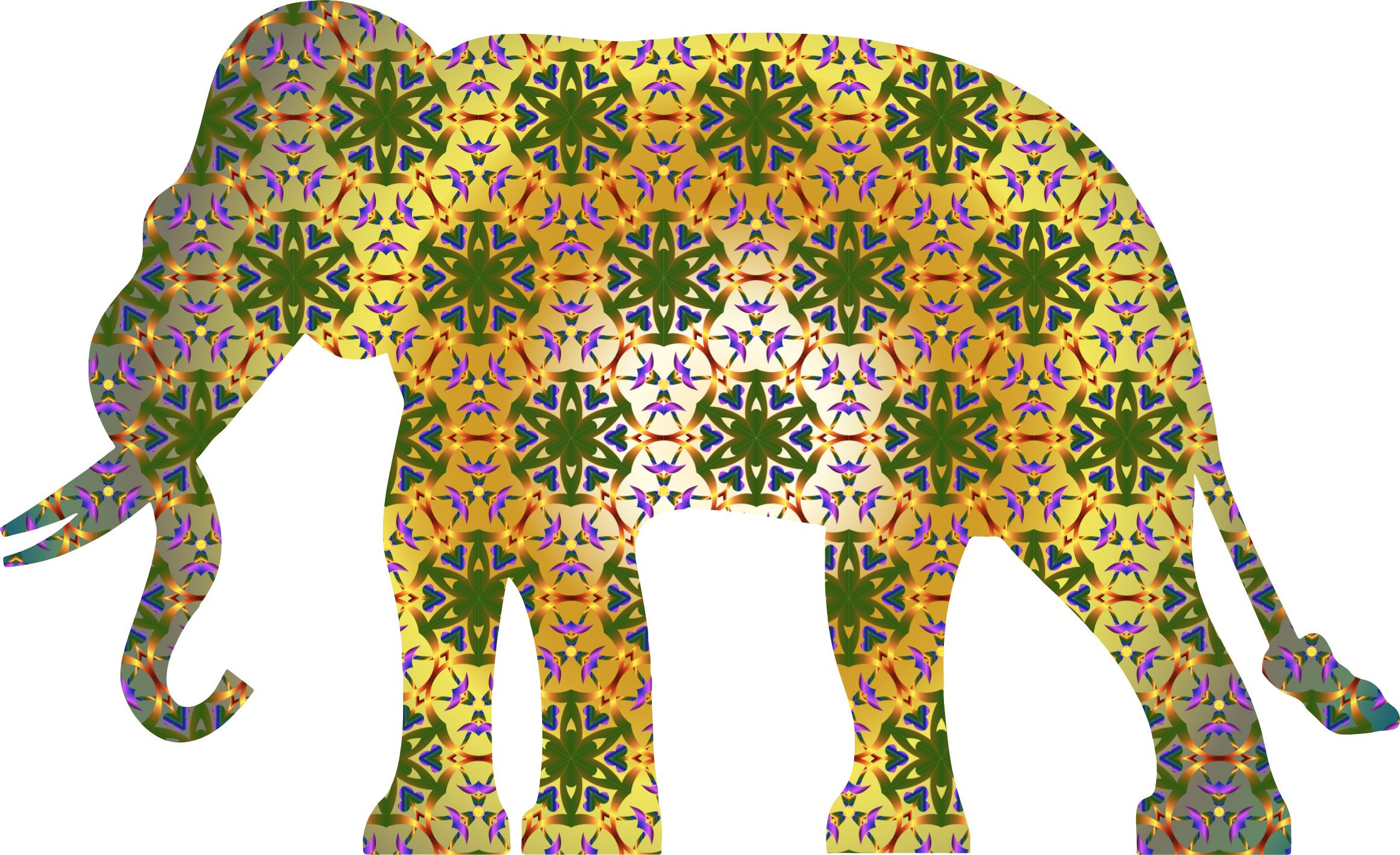 Psychedelic pattern icons png. Elephant clipart rainbow