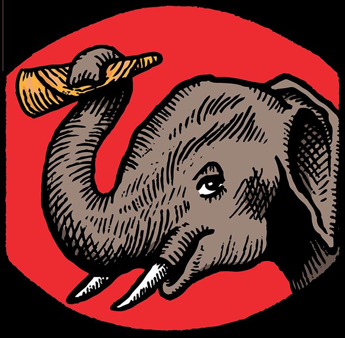 Clipart elephant plain. Tiffin asha