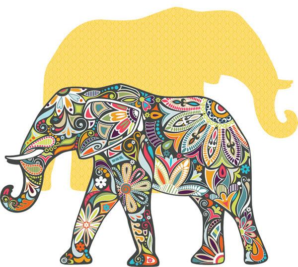 Clipart elephant puzzle.
