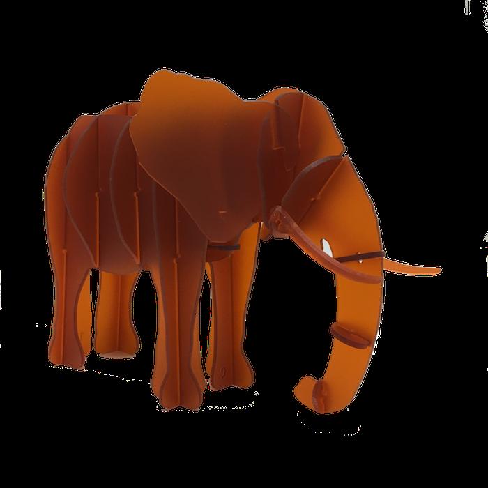 Clipart elephant puzzle.  d animal acrylic