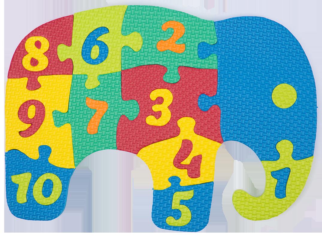 . Clipart elephant puzzle