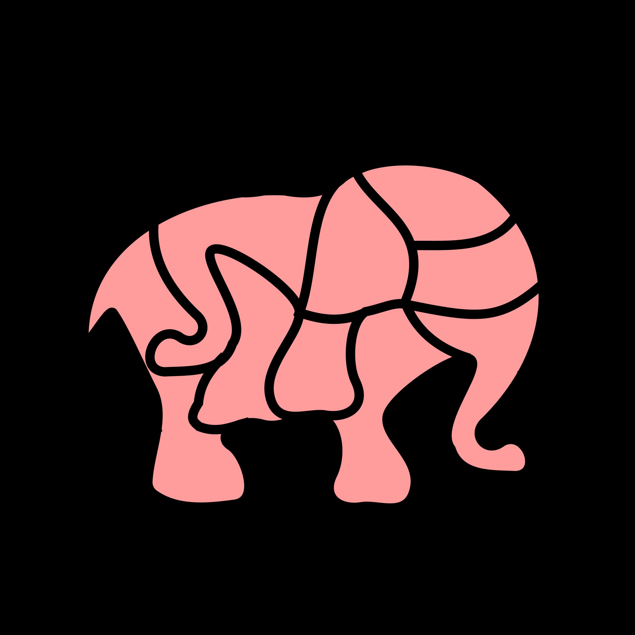 Clipart elephant puzzle. Picture elefant big image