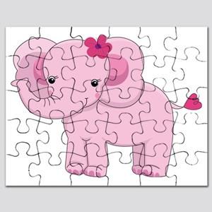 Pink puzzles cafepress . Elephant clipart puzzle