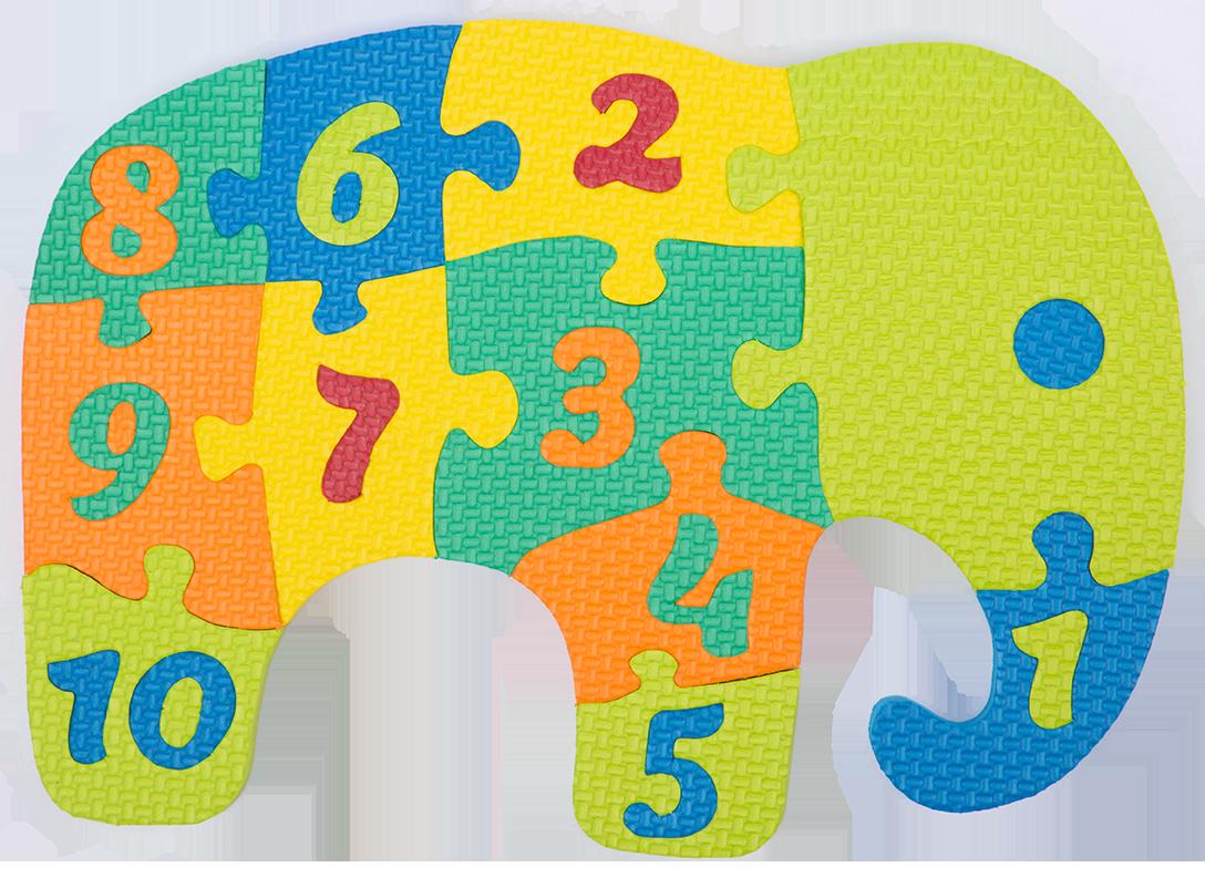 Elephant clipart puzzle.