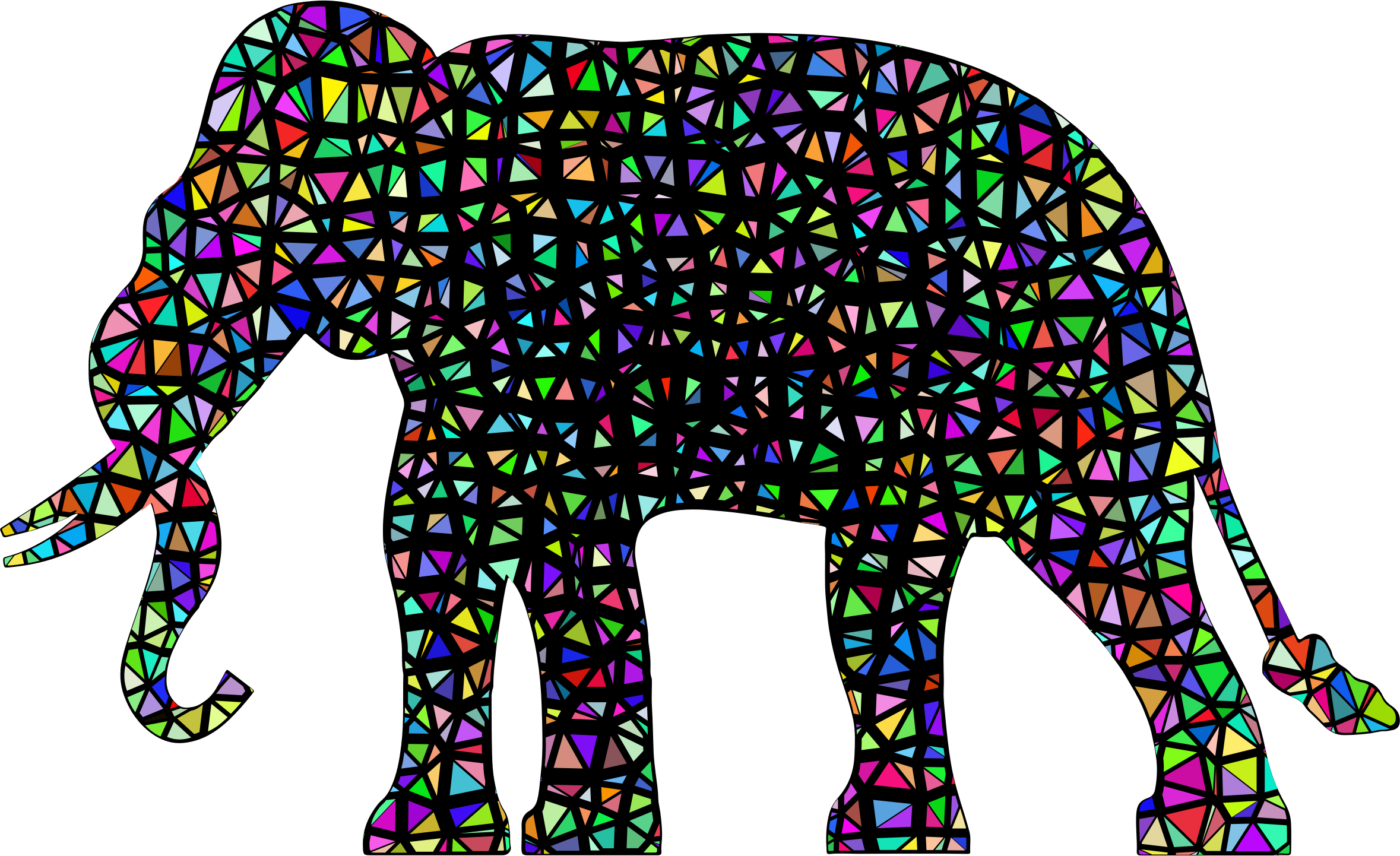 Clipart elephant rainbow. Silhouette flying apart with