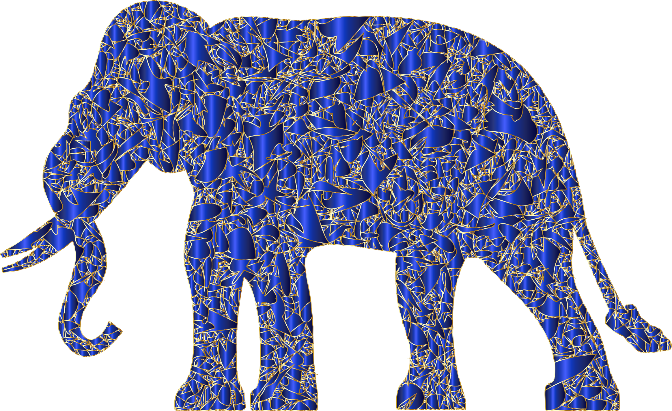 Clipart elephant rainbow. Modern art reactivated big