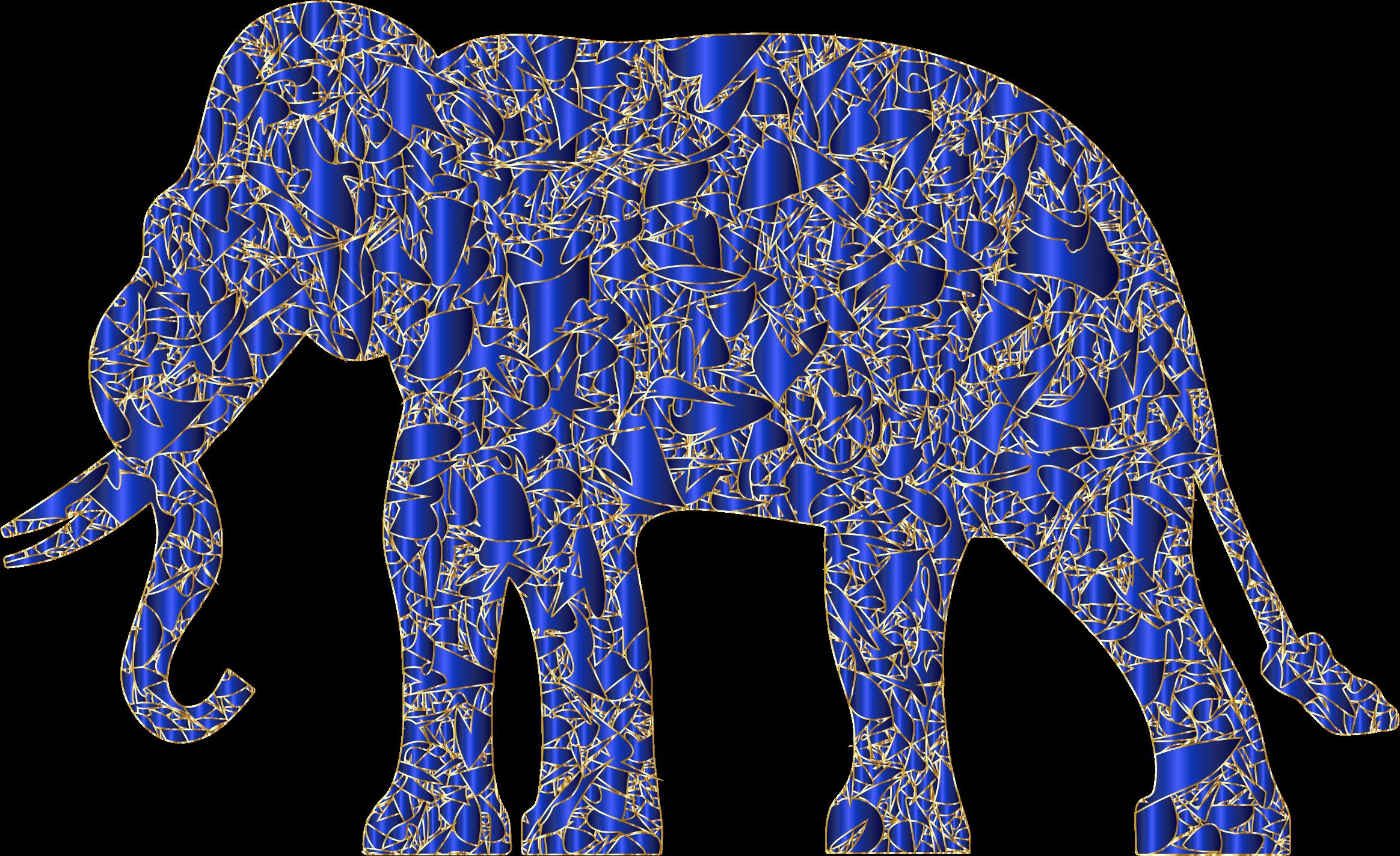 Modern art reactivated big. E clipart elephant