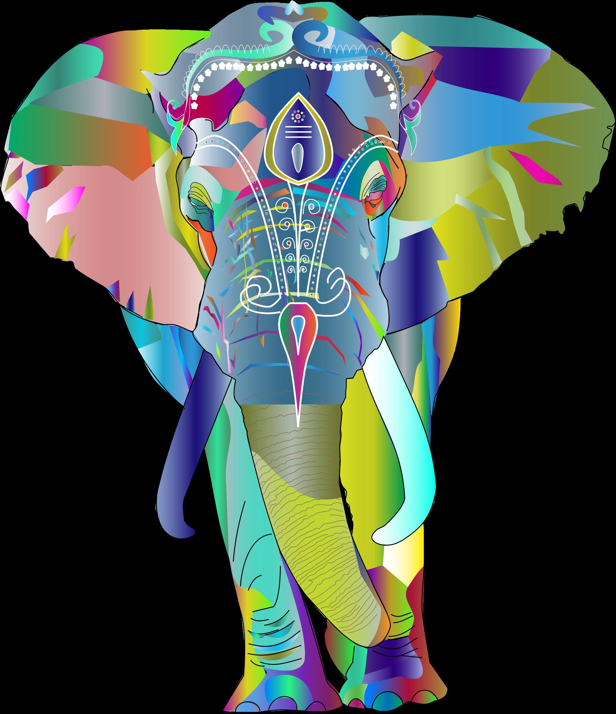 Prismatic big image png. Clipart elephant rainbow