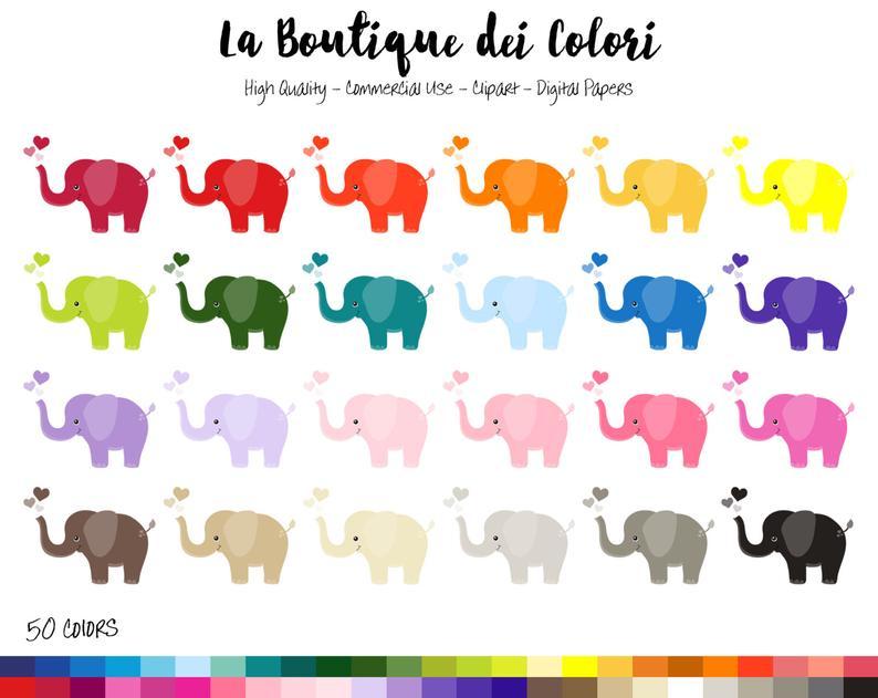 baby clip art. Clipart elephant rainbow