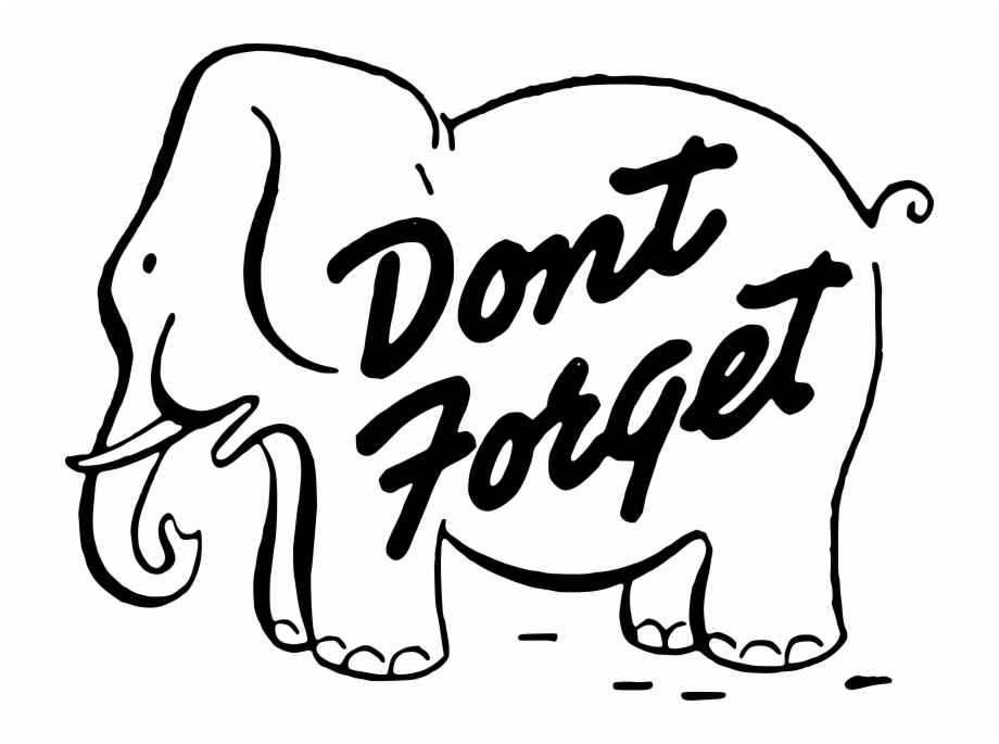 Dont forget clip art. Elephants clipart reminder
