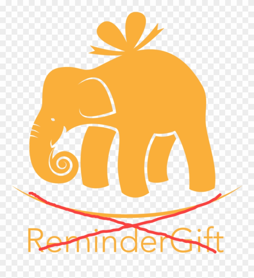 Gift png download . Elephants clipart reminder
