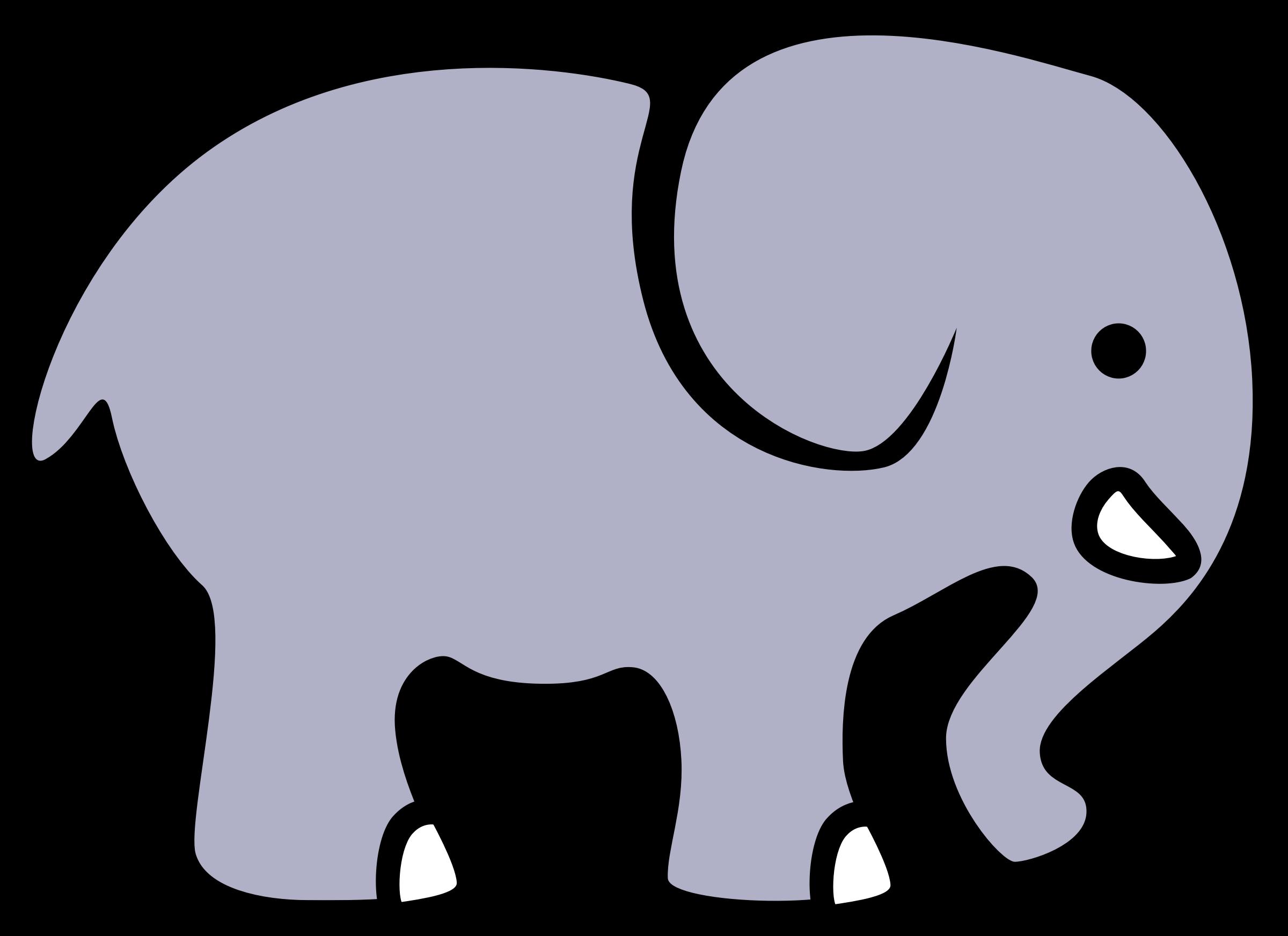 d cartoon by. Lavender clipart elephant