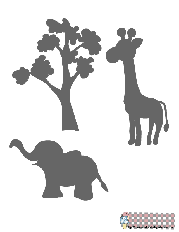 Http themes for baby. Clipart elephant stencil