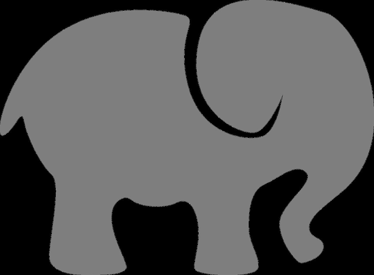 Clipart elephant stencil. Imagen gratis en pixabay